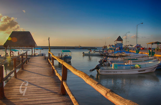 Chiquila port, ferry to Holbox Island.